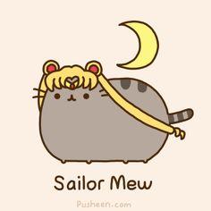 Pusheen the cat ~ Sailor Mew ~ Sailor Moon