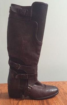 Women-039-s-UGG-Collection-Western-Style-Riding-Boots-Size-8-Brown-purple-Leather