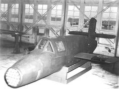 German Ba 349 B R rocket powered with a nose full of rockets