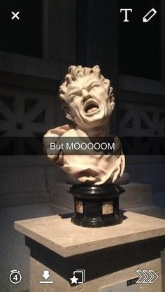 35 Of The Most Perfectly Inappropriate Art History Snapchats In Cartman's voice.