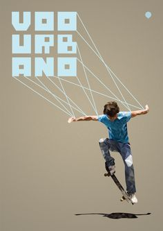 Skateboard poster using Pilaca Free Font by Pier Paolo, via Behance