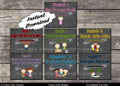 7 Habits Posters for Leader in Me Schools  by ClassicPartyDesigns