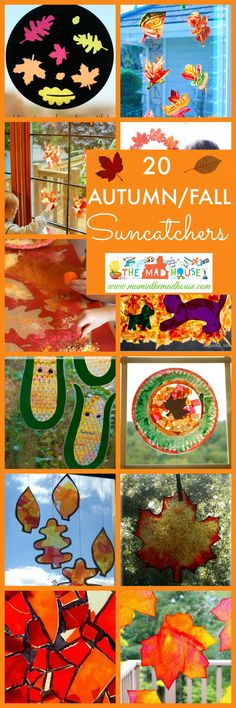 20 Kid made Autumn Suncatchers Kid made Fall suncatchers. Celebrate the beauty…