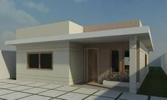 An online space for you to learn all about Home & Construction House Front Design, Patio Roof, Flat Roof, Modern House Plans, Home Design Plans, Facade House, Cottage Homes, Little Houses, Bungalow