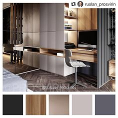 ・ ・ ・ Have a nice day, everyone! Friends, I decided to transfer our . Modern Home Interior Design, Home Office Design, Interior Architecture, House Design, Study Room Design, Small Home Offices, Built In Cabinets, Suites, Fashion Room