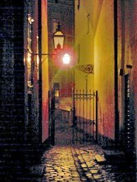 Stockholm alleyway... I wish I could insert myself in the picture lol.