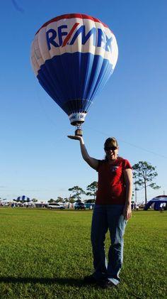 Having fun with the balloon!