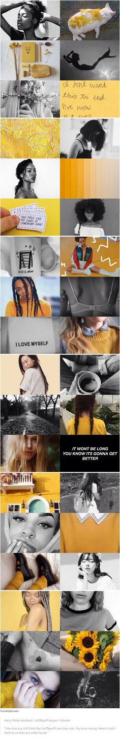 """foundinghouses:  Harry Potter Aesthetic: Hufflepuff House + Women  """"I like how you still think that Hufflepuffs are only nice. You're so wrong, there's much more to us than any other house."""""""