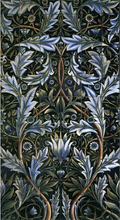 Membland Hall tile panel William Morris x cm Object Ty. - Membland Hall tile panel William Morris x cm Object Type ceramic Material - William Morris Wallpaper, William Morris Art, Morris Wallpapers, Thistle Wallpaper, Of Wallpaper, Designer Wallpaper, Wallpaper Designs, Bathroom Wallpaper, Wallpaper Ideas