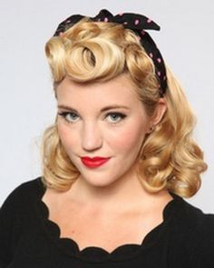 PIN UP looks for BEGINNERS ( QUICK and EASY VINTAGE/ RETRO hairstyles) - More pin up girl hair styles! Description from pinterest.com. I searched for this on bing.com/images