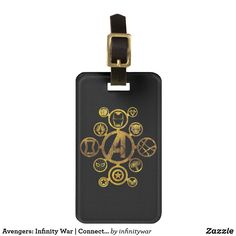 Avengers: Infinity War | Connected Hero Icons Bag Tag. Awesome Marvel Infinity War merchandise to personalize. #marvel #avengers #gifts #birthday #birthdayparty #birthdaycard #personalize #kids #shopping