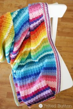 This Illuminations Blanket is one of the most colorful crochet afghan patterns ever! Baby Afghans, Baby Blanket Crochet, Crochet Baby, Crochet Blankets, Baby Blankets, Crotchet, Plaid Crochet, Rainbow Crochet, Afghan Crochet Patterns