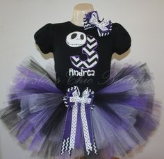 Chevron Nightmare Before Christmas tutu by Presleeschicboutique, $65.00