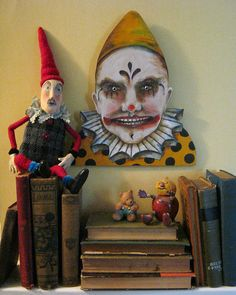 IMG_0053 | your nightmare clown.... original painting , cut … | Flickr