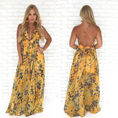 bb48f23057 At Dusk Floral Maxi Dress in Mustard - Dainty Hooligan Boutique Chic  Fashionista, Floral Maxi