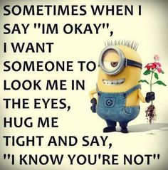 """25 funny quotes with pictures """"Out of my mind back in five minutes. I'm not running away from hard work, I'm too lazy to run - Funny Quotes Of The Day Funny Picture Quotes, Cute Quotes, Funny Quotes, Funny Pics, Qoutes, Funny Minion Memes, Minions Quotes, Hilarious Jokes, Minions Love"""