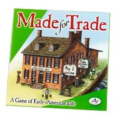 Made for Trade: A Game of Early American Life      - Practicing bartering and money management      - Learn what life was like for ordinary citizens in colonial America      - Lessons in History and Economics      - 2 to 4 players      - Instructions for 4 games included