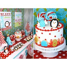 Winter Candyland First Birthday Party // Hostess with the Mostess® found on Polyvore