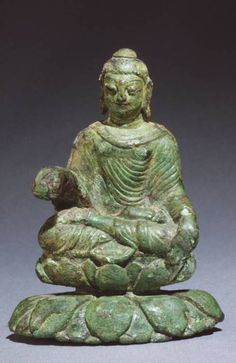 6th or 7th century Buddha statue from northern India found in the archaeological site of Helgö, Sweden
