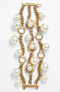 Givenchy Faux Pearl Statement Bracelet (Nordstrom Exclusive) available at #Nordstrom