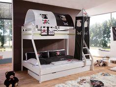 Łóżko piętrowe pirackie