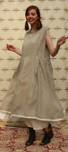 Wouldn't this Linen Sleeveless Slip-On dress from Vivid be perfect with a Large Toggle necklace?