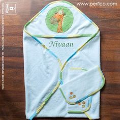 New Baby Boy Jungle © Personalized Baby Towel at Perfico.com