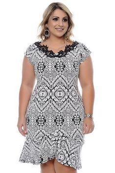 Vestido Plus Size Lyndale I Love Fashion, Curvy Fashion, Girl Fashion, Womens Fashion, Plus Size Fashion For Women, Plus Size Women, Girl With Curves, Moda Plus Size, Blouse Dress