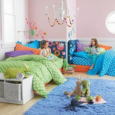 Company Cotton® Bright Dots Comforter Cover. getting ideas for kids rooms.
