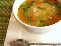 Zoe's Kitchen chicken and orzo soup. I swear it's a magic cure for colds/flu.
