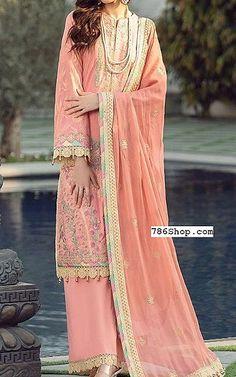 Peach Lawn Suit   Buy Rang Rasiya Pakistani Dresses and Clothing online in USA, UK Pakistani Dresses Online Shopping, Online Dress Shopping, Fashion Pants, Fashion Dresses, Rang Rasiya, Pakistani Lawn Suits, Add Sleeves, Lawn Fabric, Eid