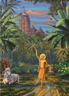 Krishna Painting - Chaitanya Mahaprabhu In Jaganath Puri by Vrindavan Das Krishna Lila, Art Prints, Hindu Art, Indian Art, Painting, Lord, Deities, Art