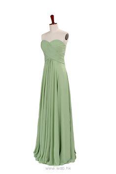 Fashionable A-line empire waist chiffon dress for bridesmaid $134.8