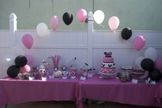 """Photo 8 of 14: Minnie Mouse / Birthday """"Leah's Minnie mouse party"""" 