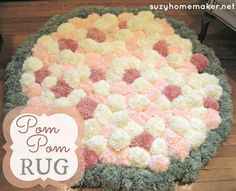 How to make a pom pom rug! | suzyhomemaker.net