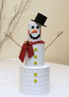 bonecos de neve recicláveis - Pesquisa Google