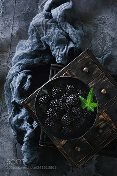 Blackberries still life by Arx0nt