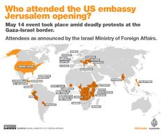 Twenty-nine countries attended the US ceremony to relocate its embassy to Jerusalem from Tel Aviv.