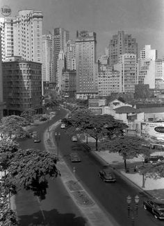 Avenida 9 de Julho no início da década de 50