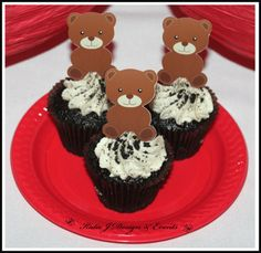 Cupcake Toppers Teddy Bears Picnic Party #Teddy #Bear #Bears #Picnic #Red #Gingham #Unisex #Boy #Boys #1stBirthday #First #1st #Birthday #Baby #Cute #Girls #Girl #Bunting #Partydecorations #Party #Decorations #Ideas #Banners #Cupcakes #WallDisplay #PartyBags #Invites #KatieJDesignAndEvents #Personalised #Creative