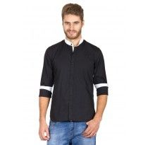 #Rigo #Black #Chinese #Collar #Shirt Chinese Collar Shirt, Collar Shirts, Menswear, Clothing, Sleeves, Fabric, Mens Tops, How To Wear, Collection