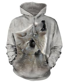 The Mountain Wolf Hoodie with Singing Lessons design by Collin Bogle. This heavyweight 100% Cotton Hoodie will last you for years and features an over-sized relaxed fit, with reinforced double-stitchi