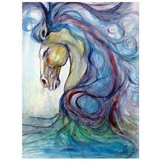 Trademark Fine Art Caballo Azul Canvas Art, Size: 14 x 19, Multicolor