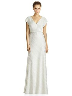 This cap sleeve Jenny Yoo JY525 bridesmaid dress features a soft soho  metallic textured fabric and 51beaade87de
