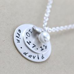 I want!    Custom anniversary jewelry Hand stamped by LustrousElements, $42.00