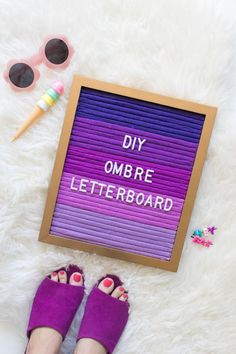 DIY Ombre Letterboard
