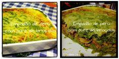 Empadão de perú com puré de brócolos