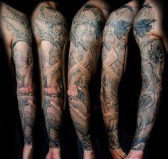 Ancient Viking Tattoos | Viking Gods Tattoos Picture