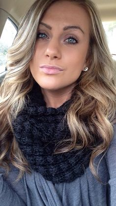 Blonde Hair with brown highlights.