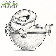 Creative Draw A Monster Ideas. Exacting Draw A Monster Ideas. Cute Monsters Drawings, Weird Drawings, Cartoon Monsters, Fish Drawings, Little Monsters, Cartoon Drawings, Animal Drawings, Drawing Sketches, Arte Punk